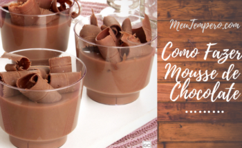 Como fazer Mousse de Chocolate com 2 ingredientes